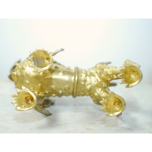 Brass Foo Dogs With Gilt Finish - A Pair - Image 6 of 6