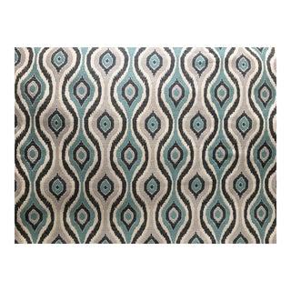 Indigo Bargello Blue & Beige Fabric