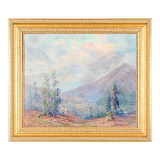 Martella Cone Lane -California Landscape -Oil Painting -Impressionist C.1920s For Sale