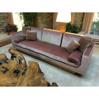 Vintage Baker Sofa in Blush Pink Velvet Preview