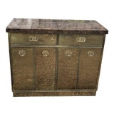 Image of Mastercraft Brass Clad Bar and Cabinet For Sale