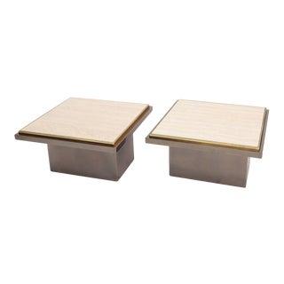 Pair of Rose Metal Side Tables