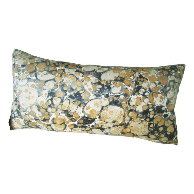 Jonathan Adler Fabric Yellow & Brown Lumbar Pillow For Sale