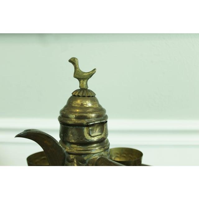 Vintage Brass Turkish Coffee Set - Image 4 of 5
