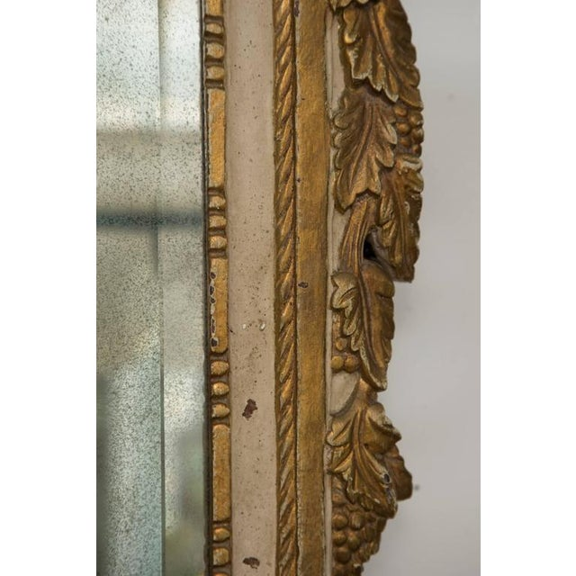 20th Century Louis XVI Style Parcel Gilt and Cream Painted Wall Mirror For Sale - Image 4 of 8