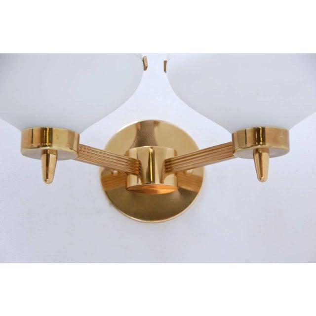 Gold Pair of Stilnovo Sconces For Sale - Image 8 of 8