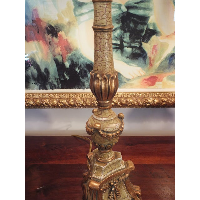 Italian Florentine Candlestick Lamps - a Pair - Image 8 of 10