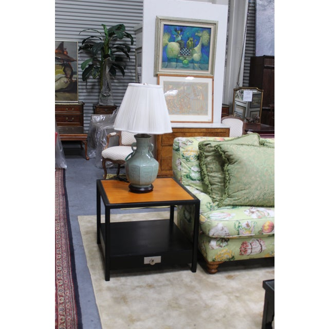 Wood Mid-Century Baker Walnut End Tables - a Pair For Sale - Image 7 of 13
