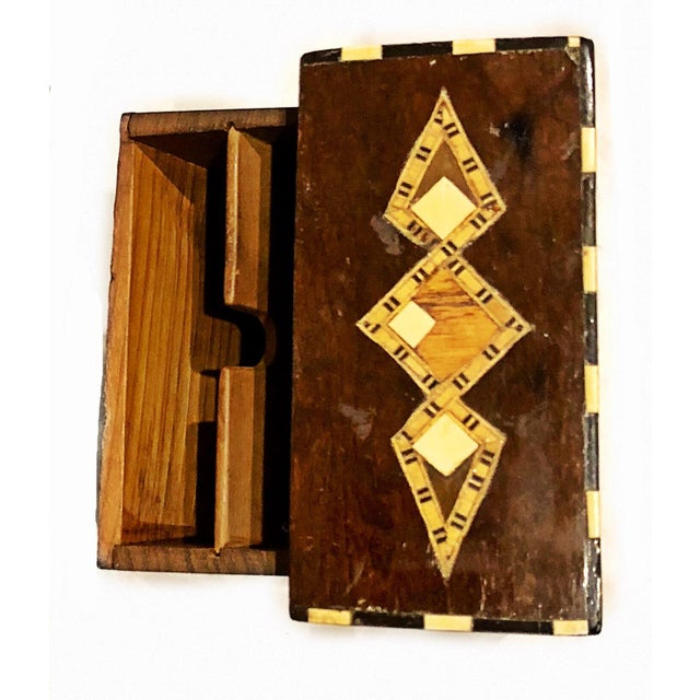 Art Nouveau 19th Century Art Nouveau Playing Cards and Marquetry Box For Sale - Image 3 of 8