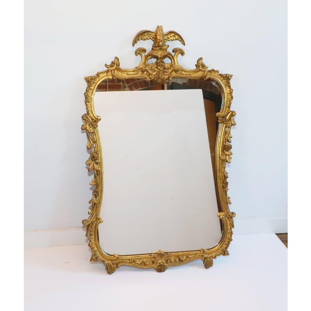 Early 20th Century Antique Gilt Gesso Mirror From Waldorf Astoria Hotel New York City For Sale - Image 5 of 5