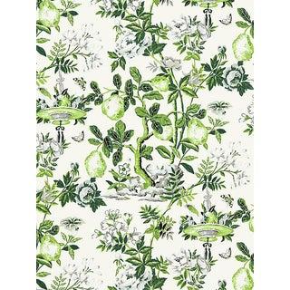 Scalamandre Shantung Garden, Verdance Wallpaper For Sale