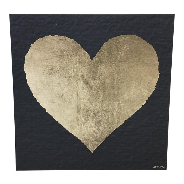 Heart Painting on Canvas by Oliver Gar With Back Lighting - Image 1 of 8
