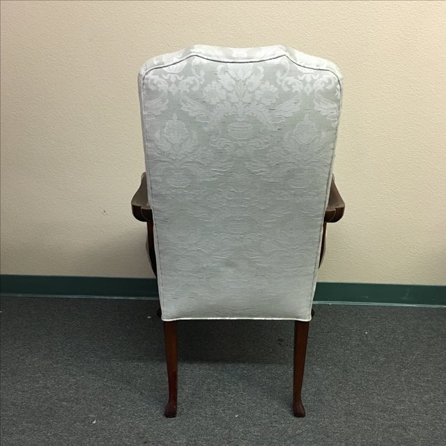 Damask Hickory Chairs - Pair - Image 5 of 9