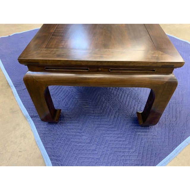 Asian Custom Walnut Coffee Table For Sale - Image 10 of 11