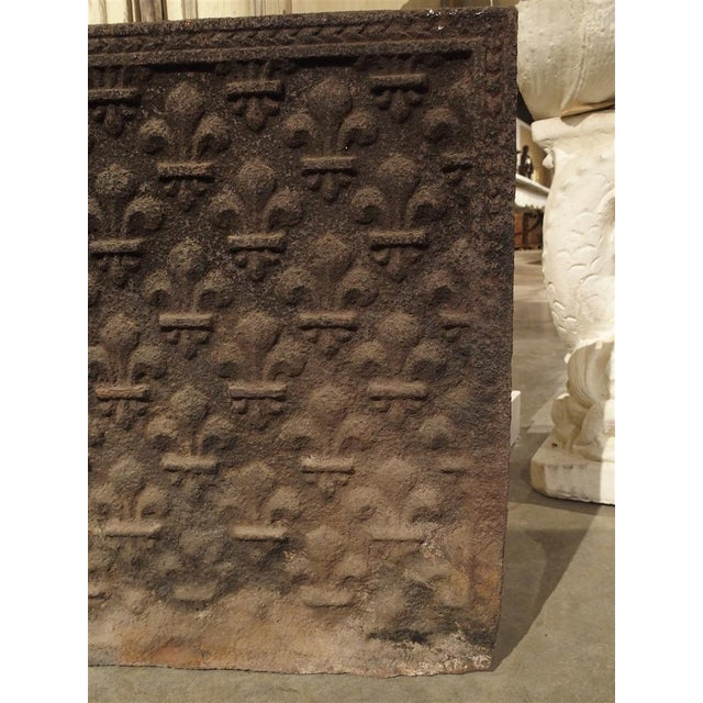 French 18th Century Fleur De Lys Fireback For Sale - Image 3 of 7