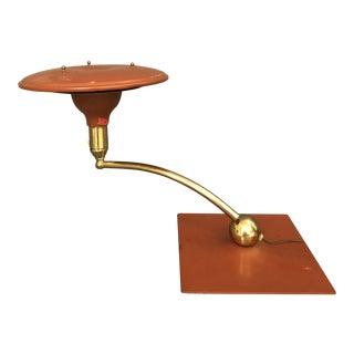 1940s Art Deco Rare Saucer Shape Desk Lamp For Sale