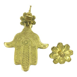 Moroccan Hand of Fatima Door Knocker For Sale