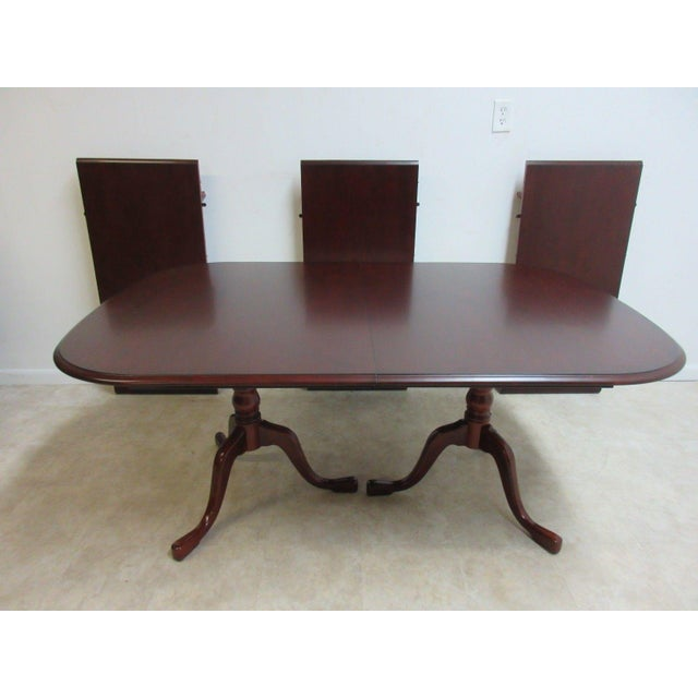 Pennsylvania House Cherry 3-Board Pedestal Dining Table For Sale - Image 11 of 11