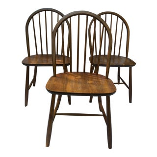 1960s Danish Modern Teak Tarm Stole Side Chairs - Set of 3 For Sale