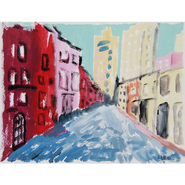 'Greenwich Village #1' Cityscape by Cleo - Image 1 of 2