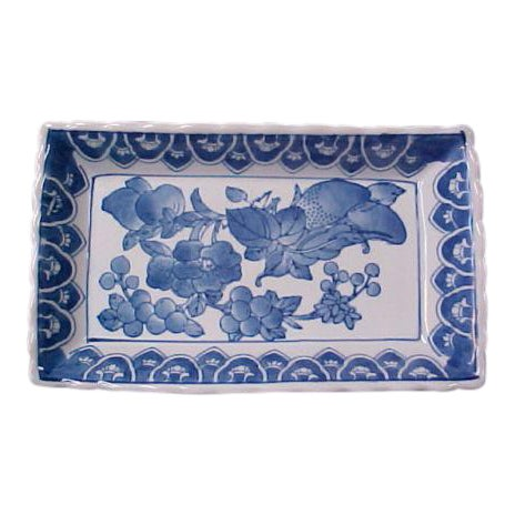 Chinese Rectangular Serving Tray For Sale