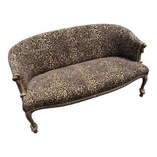 Michael Thomas Leopard Rope Tassel Sofa For Sale