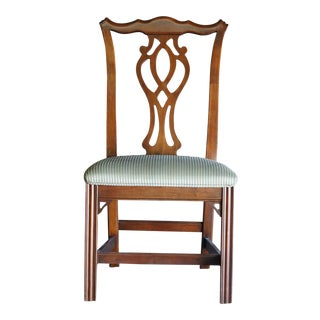 1990s Vintage Ethan Allen Georgian Court Dining Chair For Sale