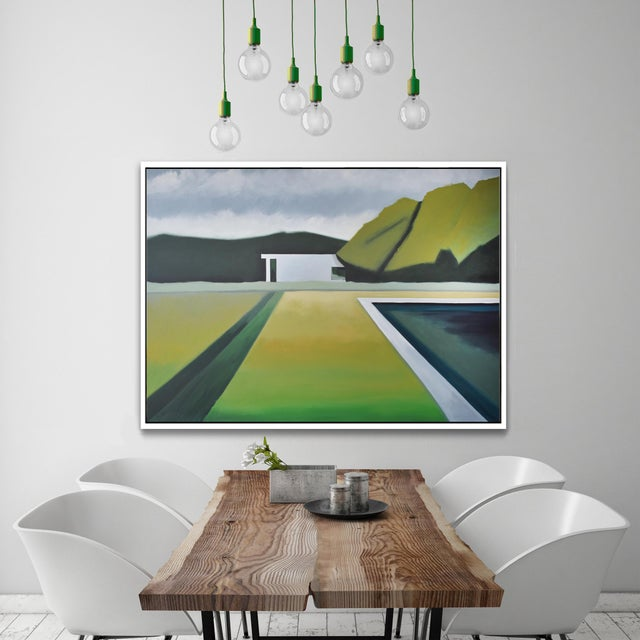 """Abstract """"Abstract Landscape Poolside"""" - Framed Print 40x60 For Sale - Image 3 of 8"""