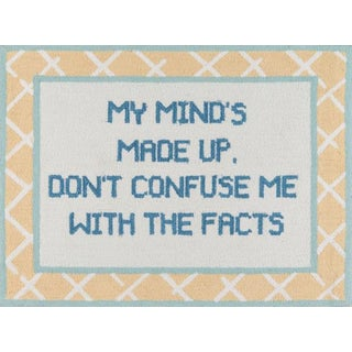 Madcap Cottage Get Smart Facts of Life Yellow Area Rug 3' X 4' For Sale