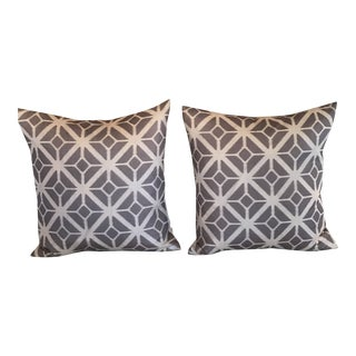 Pair of Silk Shibori Pillows