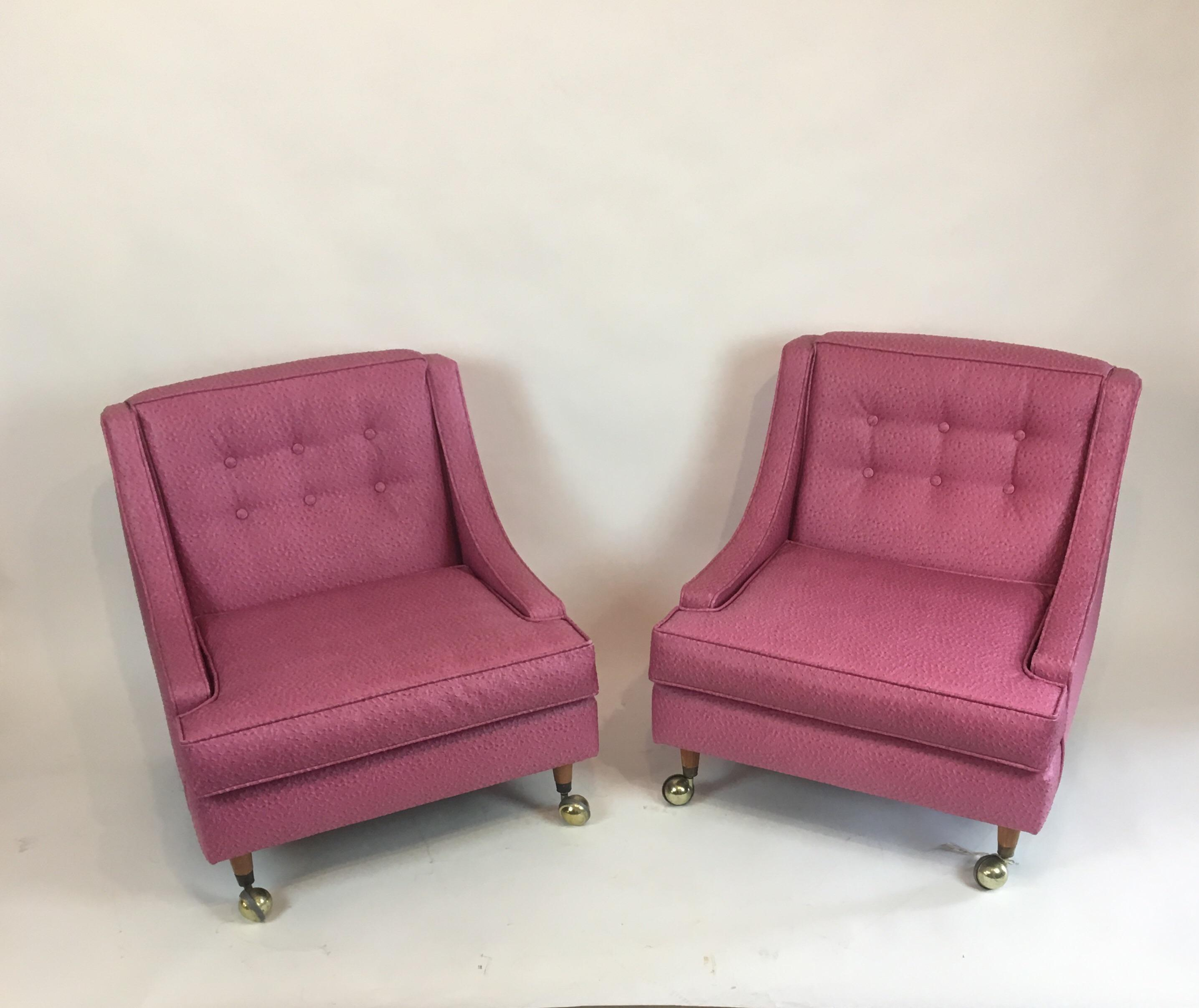 Vintage Hollywood Regency Slipper Chairs   A Pair   Image 7 Of 8
