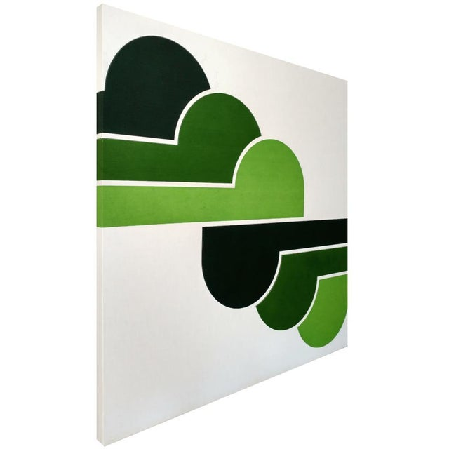 1970s Green Clouds Serigraph - Image 2 of 5