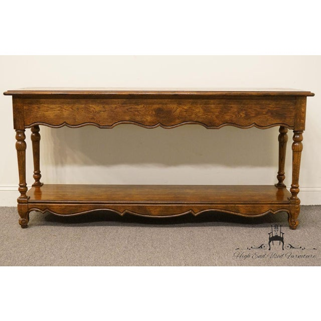 Late 20th Century Vintage Hickory Manufacturing French Oak Console Table For Sale - Image 11 of 13