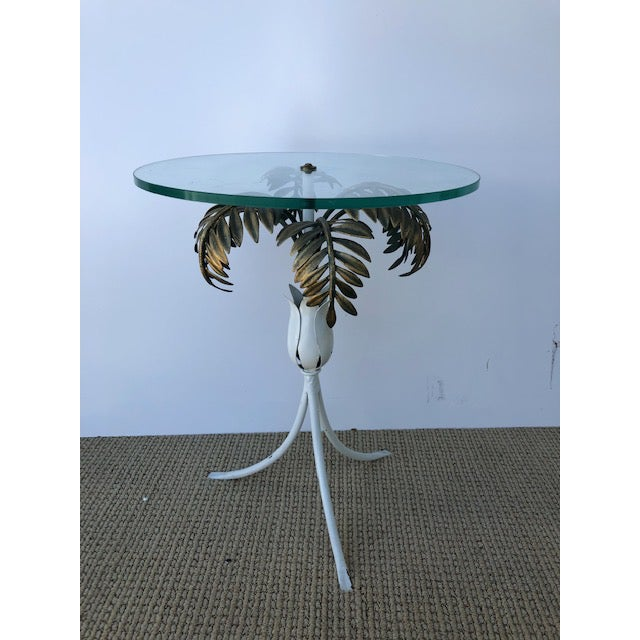 Hollywood Regency 1960s Hollywood Regency Palm Tree Side Table For Sale - Image 3 of 8