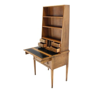 Traditional Baker Petite Secretary Desk/Bookcase For Sale
