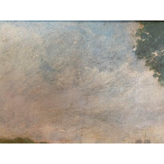 Vintage Signed Oil on Canvas Framed Painting For Sale - Image 10 of 13