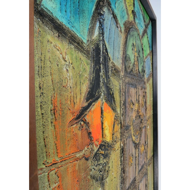 Original Mid-Century Gothic Painting on Board by Van Hoople For Sale - Image 10 of 13