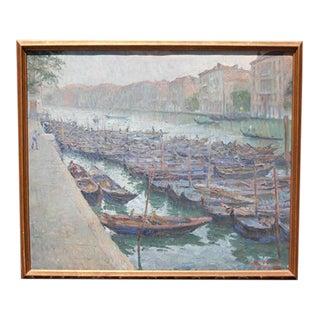 1928 Antique Luigi Moretti Impressionistic Oil Painting For Sale