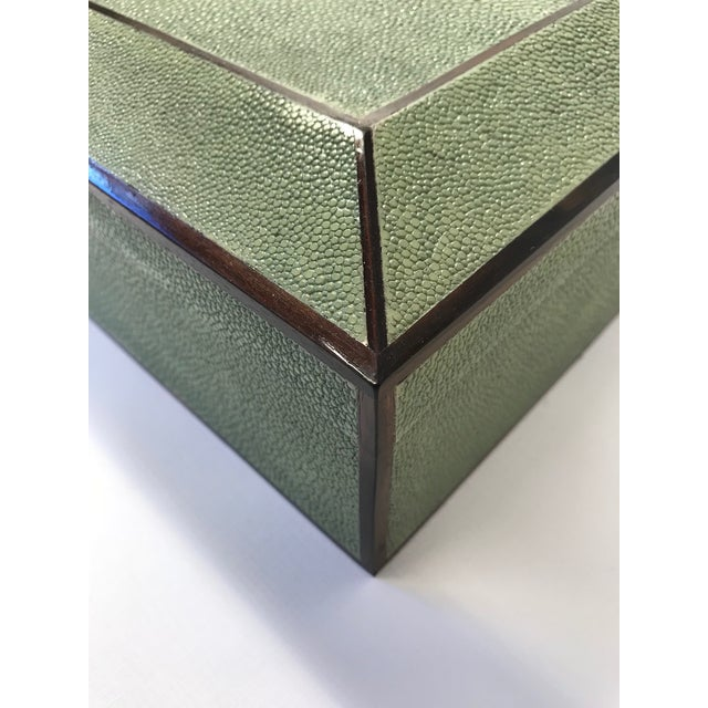 Modern Bone Inlay & Shagreen Box For Sale - Image 3 of 10