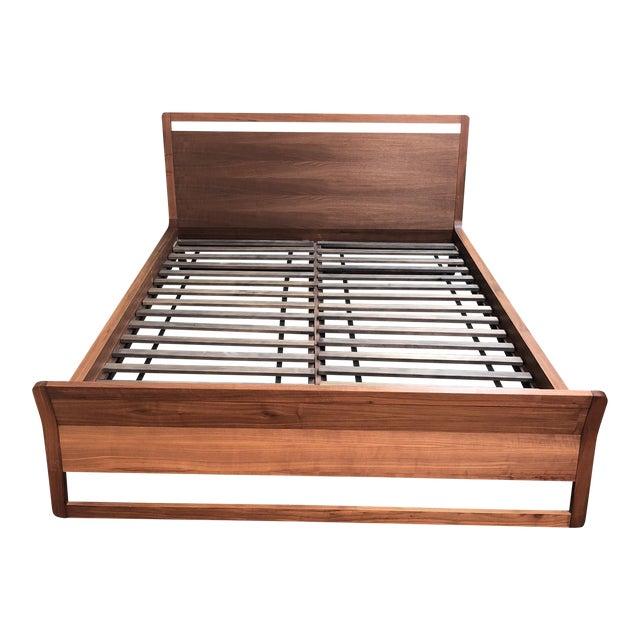 e2177dbc1 Contemporary Blu Dot Woodrow Walnut Queen Bed | Chairish