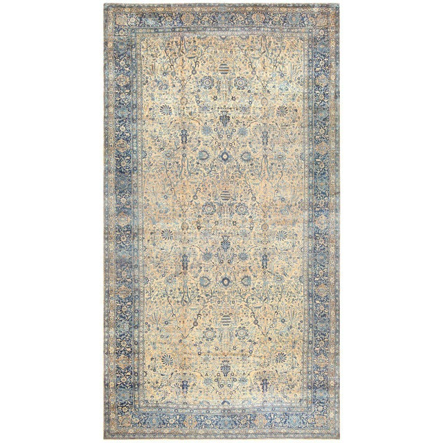 Antique Persian Kerman Oversized Vase Design Carpet - 13′6″ × 25′5″ For Sale - Image 13 of 13