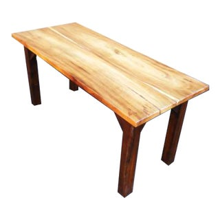 Rustic Wood Grain Slab Minimalist Dining Table Desk