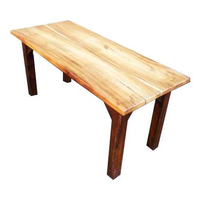 Rustic Wood Grain Slab Minimalist Dining Table Desk For Sale