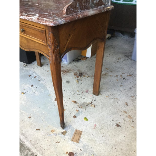 1920s French Walnut & Marble Vanity For Sale In New York - Image 6 of 10