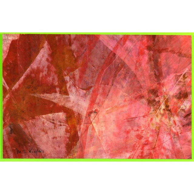 Abstract Michael Keifers, Red Abstract For Sale - Image 3 of 4