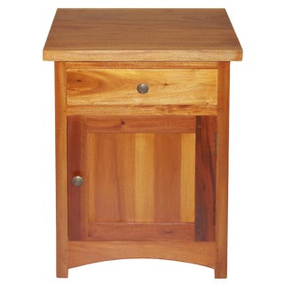 Contemporary Style Mahogany Nightstand For Sale