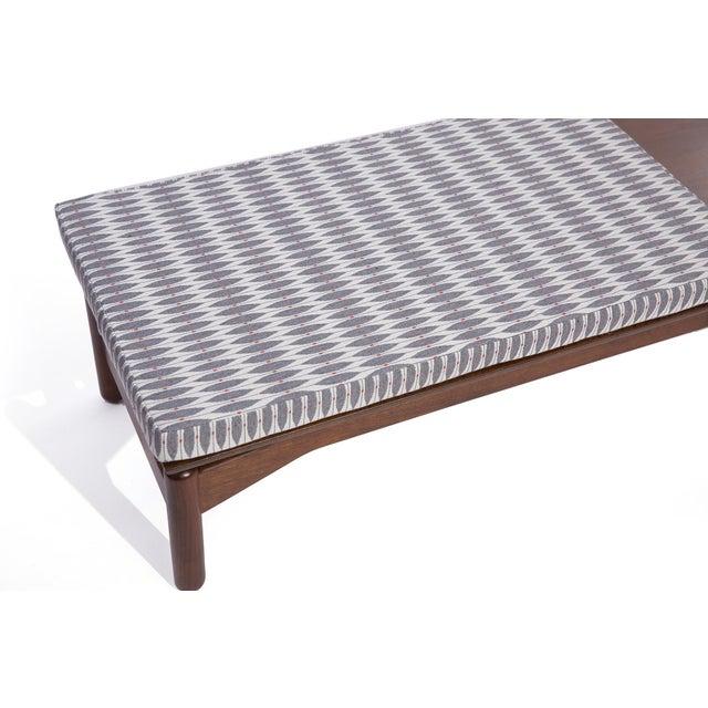 1960s Greta Grossman for Glenn of California Walnut and Upholstered Bench For Sale - Image 5 of 6