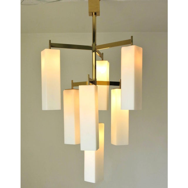 White Tiered Palazzo Chandelier by Fabio Ltd (2 Available) For Sale - Image 8 of 9