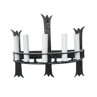 Iron Gothic Style Wall Sconce For Sale