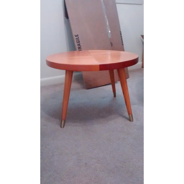 Mid Century Modern Round Side Table - Image 2 of 3